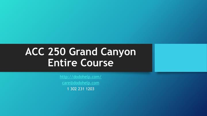 acc 250 grand canyon entire course