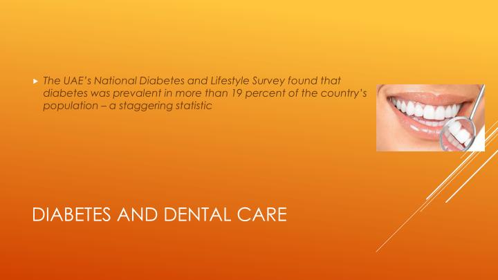 Diabetes and dental care1