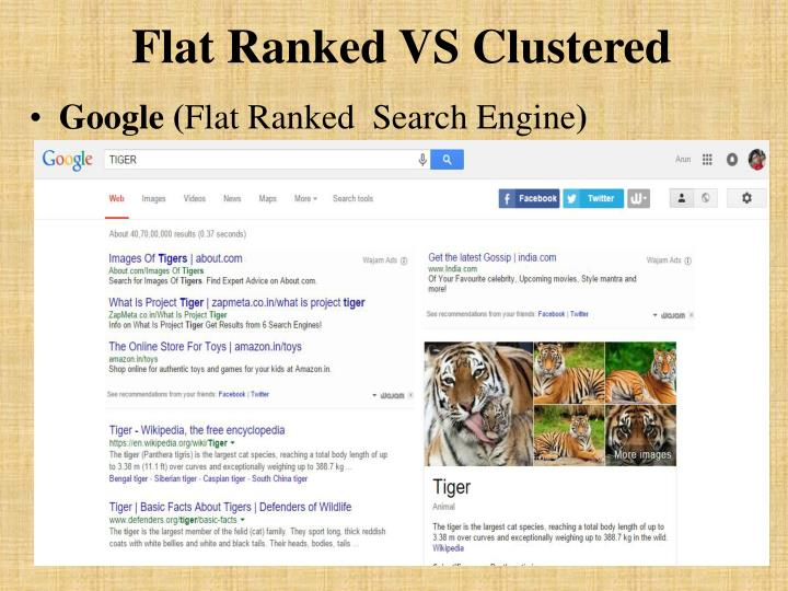 Flat ranked vs clustered