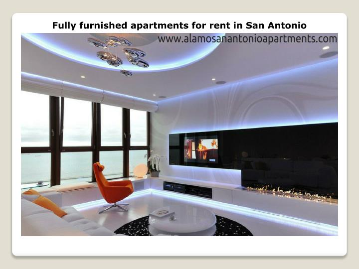 Fully furnished apartments for rent in San Antonio