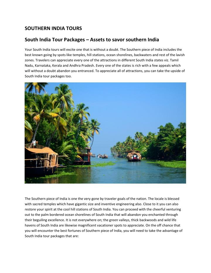 SOUTHERN INDIA TOURS