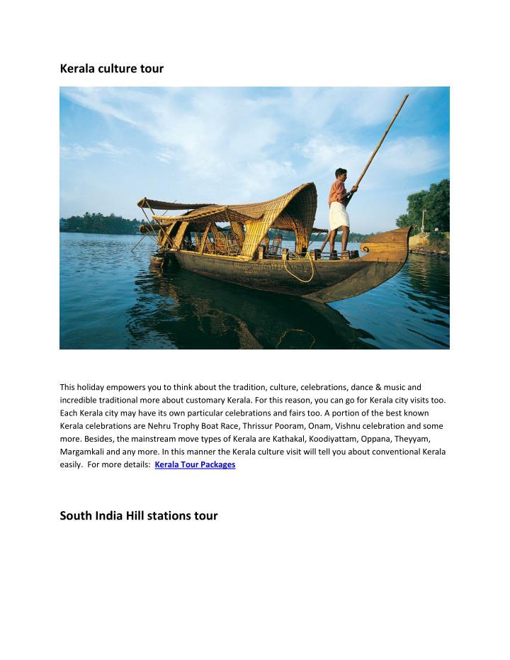 Kerala culture tour