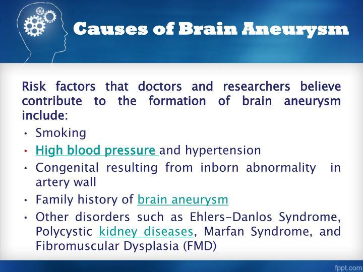 Causes of Brain Aneurysm