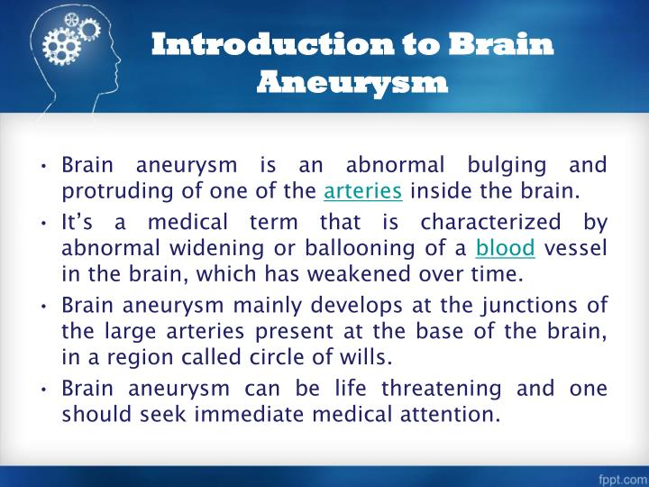 Introduction to brain aneurysm