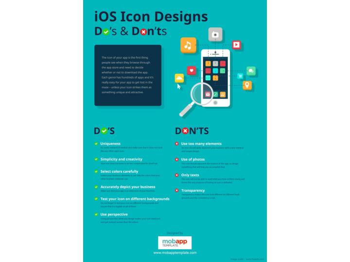 Ios icon designs do s and dont s infographics