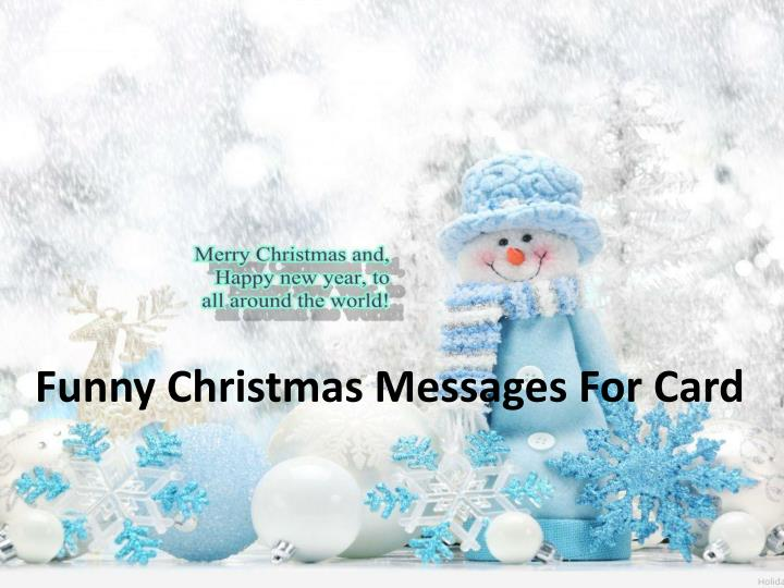Funny Christmas Messages For Card