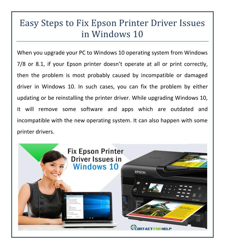 Easy Steps to Fix Epson Printer Driver Issues