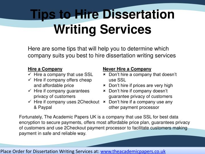 Tips to Hire Dissertation Writing Services