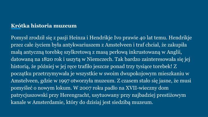 Krótka historia muzeum