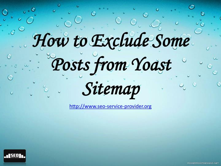 How to Exclude Some Posts from