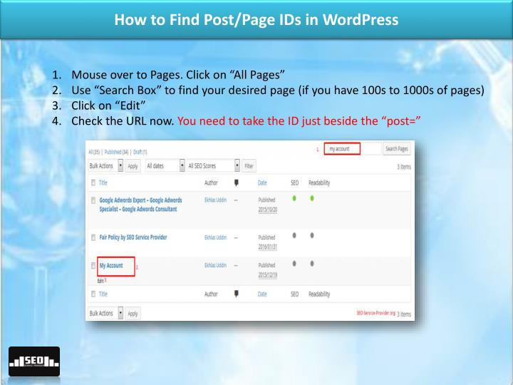 How to Find Post/Page IDs in WordPress