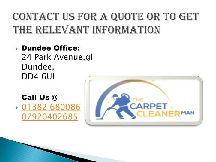 Contact us for a quote or to get the relevant information
