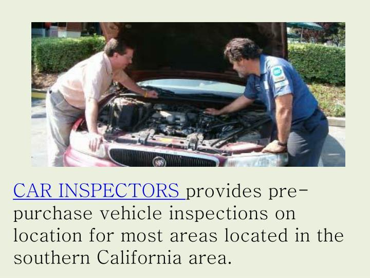 CAR INSPECTORS