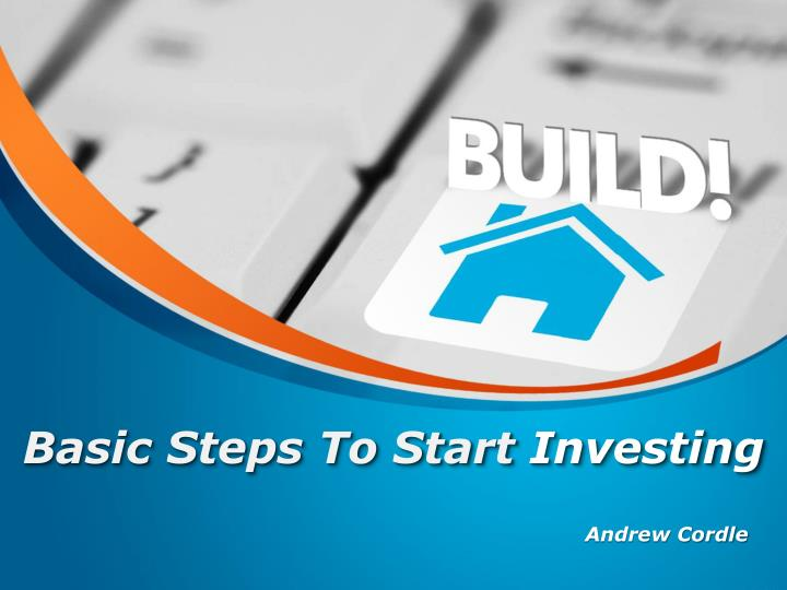 Basic steps to start investing