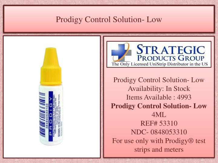 Prodigy Control Solution- Low