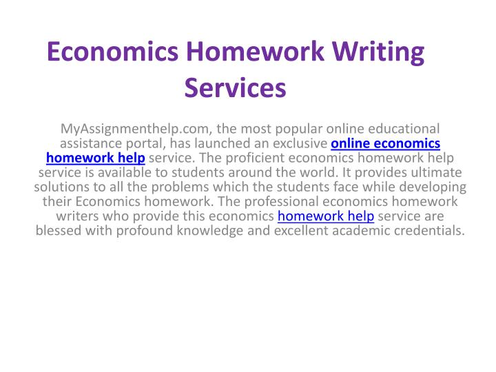 Economics Homework Writing