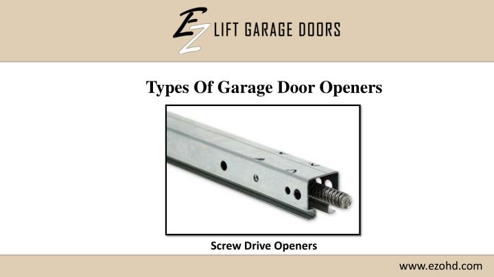 Types Of Garage Door Openers