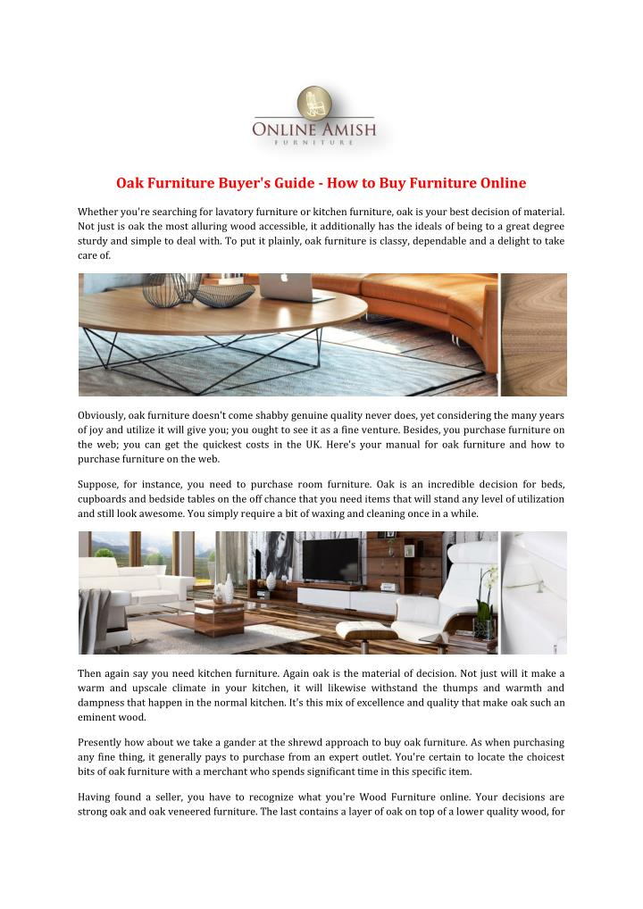 Oak Furniture Buyer's Guide - How to Buy Furniture Online