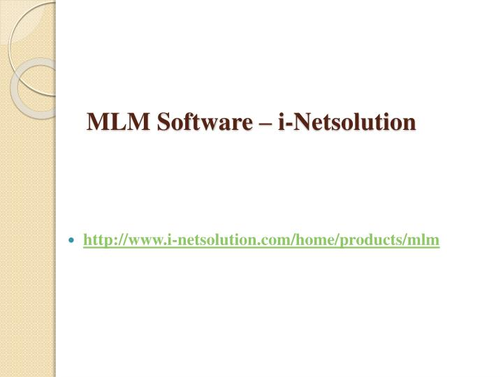 Mlm software i netsolution