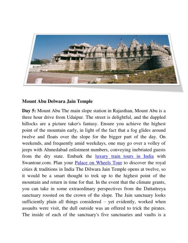 Mount Abu Delwara Jain Temple