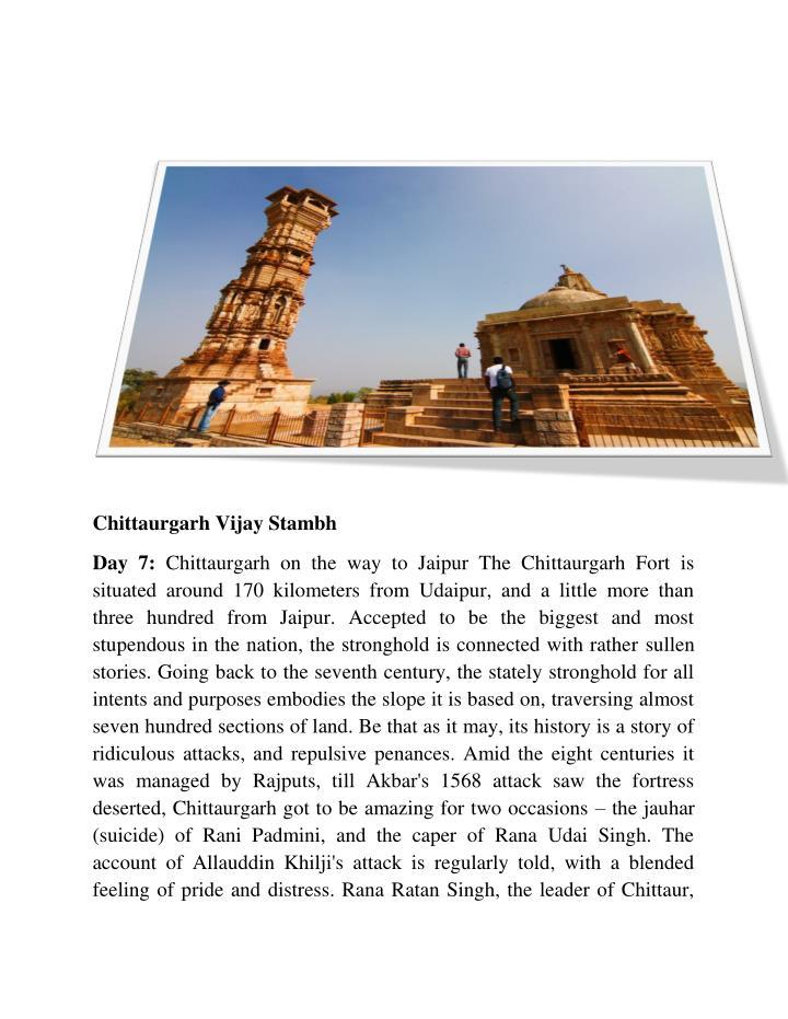 Chittaurgarh Vijay Stambh