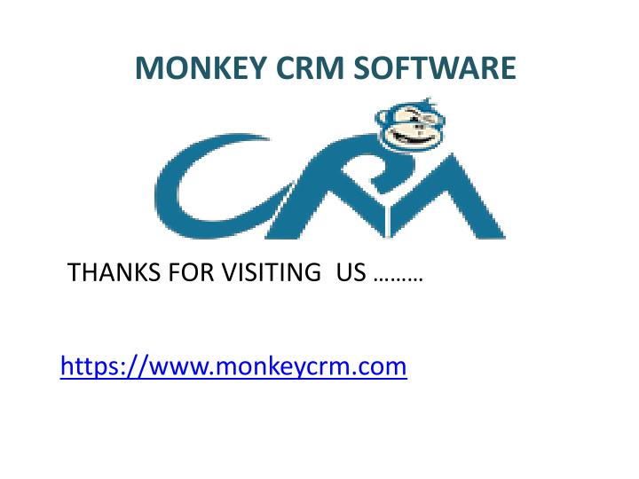 MONKEY CRM SOFTWARE