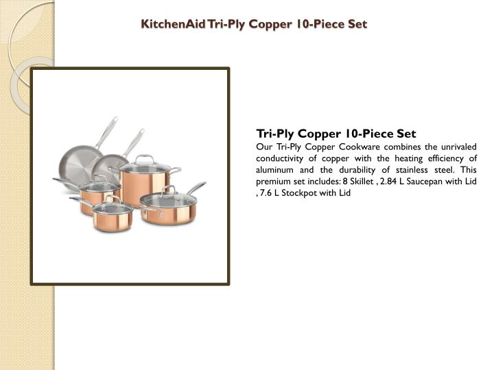 Kitchenaid tri ply copper 10 piece set