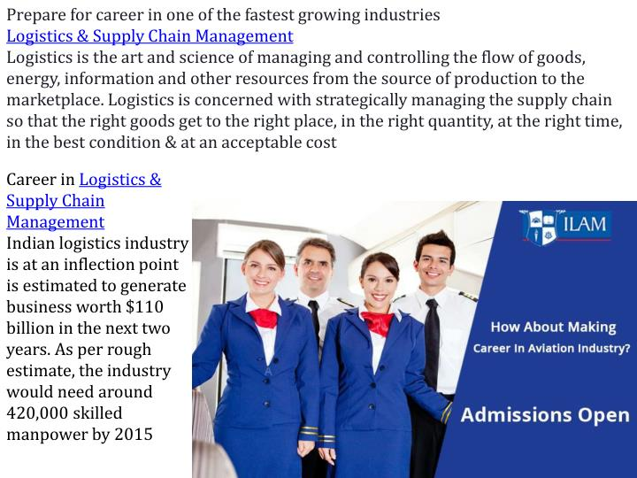 Prepare for career in one of the fastest growing industries