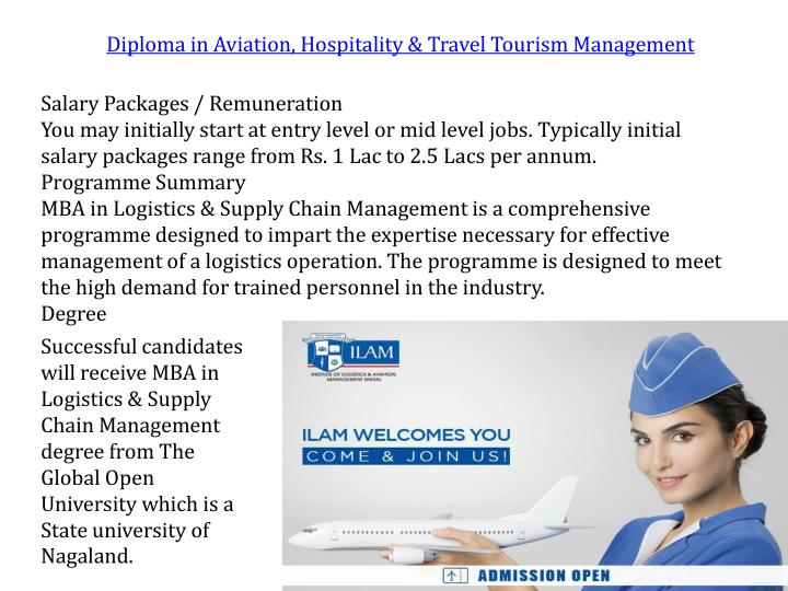 Diploma in Aviation, Hospitality & Travel Tourism Management