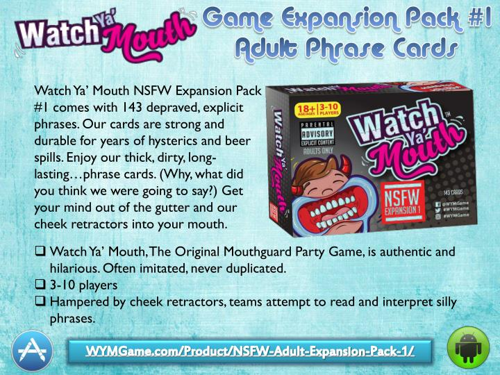 Watch Ya' Mouth NSFW Expansion Pack