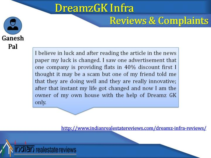 Genuine reviews about dreamz infra from residing customers