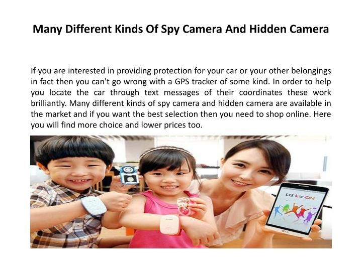 Many Different Kinds Of Spy Camera And Hidden Camera