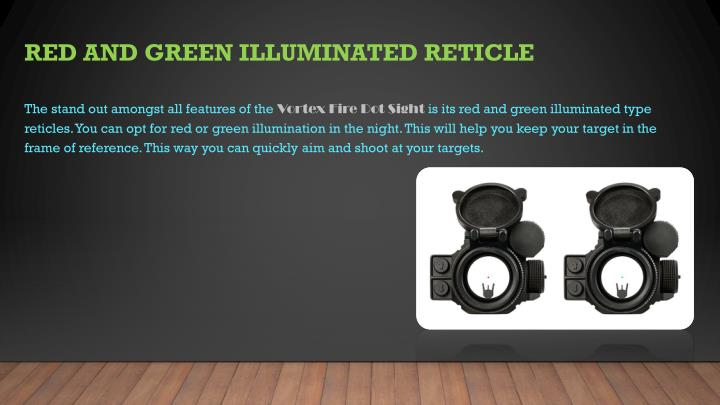 Red and green illuminated reticle