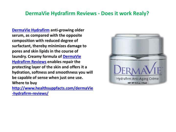 DermaVie Hydrafirm Reviews - Does it work Realy?