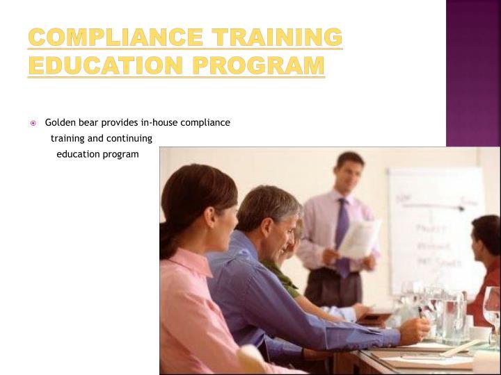 Compliance Training education program