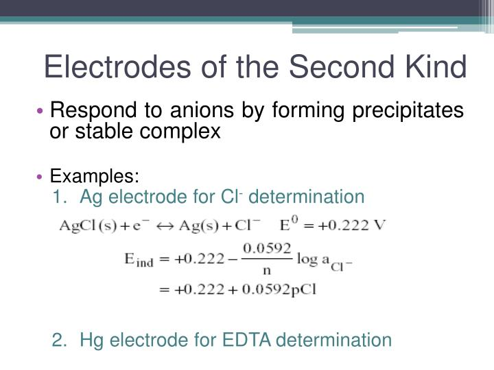 Electrodes of the Second Kind