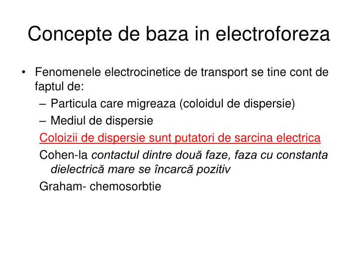 Concepte de baza in electroforeza