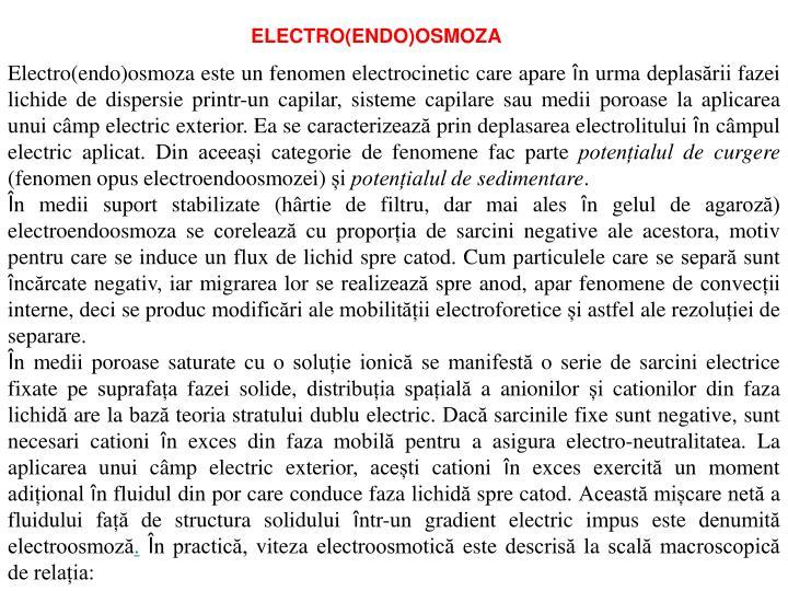 ELECTRO(ENDO)OSMOZA