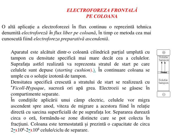 ELECTROFOREZA FRONTALĂ