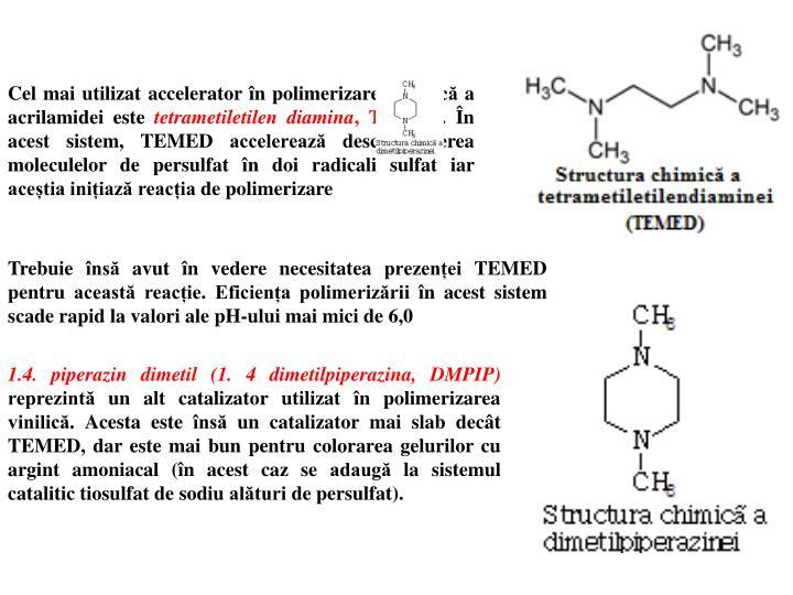 Cel mai utilizat accelerator în polimerizarea