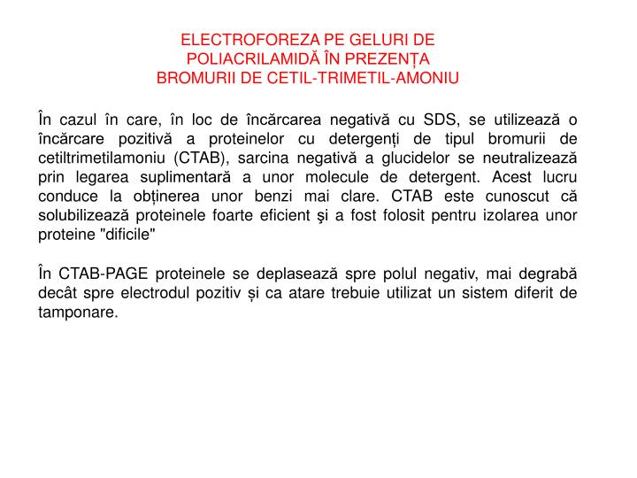 ELECTROFOREZA PE GELURI DE