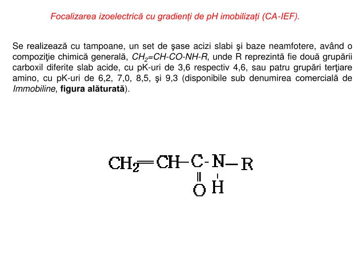 Focalizarea izoelectrică cu gradienți de pH imobilizați (CA