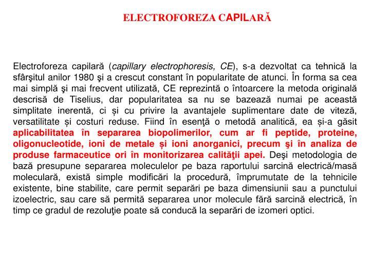 ELECTROFOREZA C