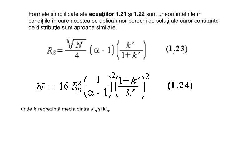 Formele simplificate ale