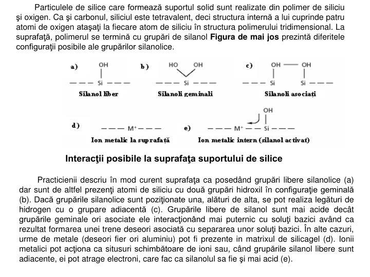 Particulele de silice care