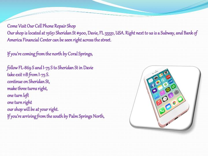 Come Visit Our Cell Phone Repair Shop