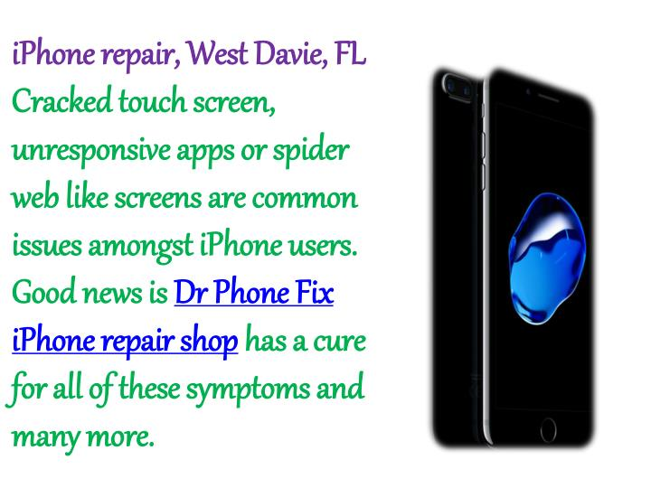 iPhone repair, West Davie, FL