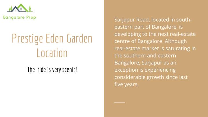 Sarjapur Road, located in south-