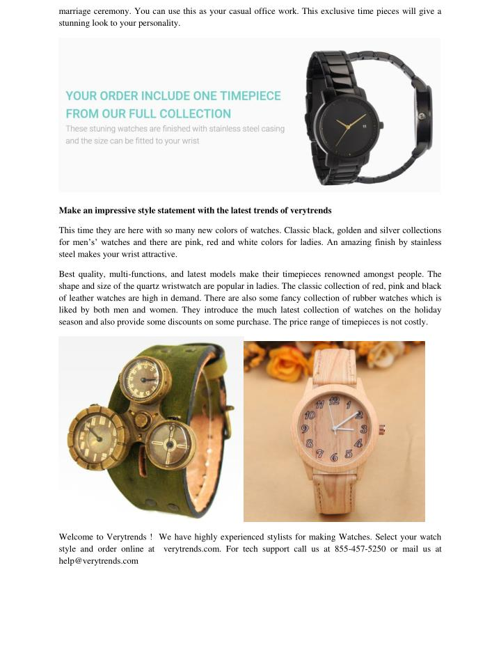 marriage ceremony. You can use this as your casual office work. This exclusive time pieces will give a