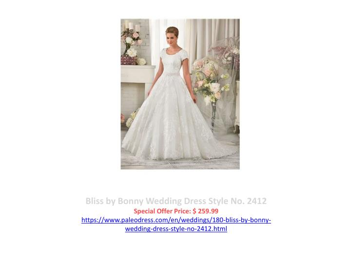 Bliss by Bonny Wedding Dress Style No. 2412